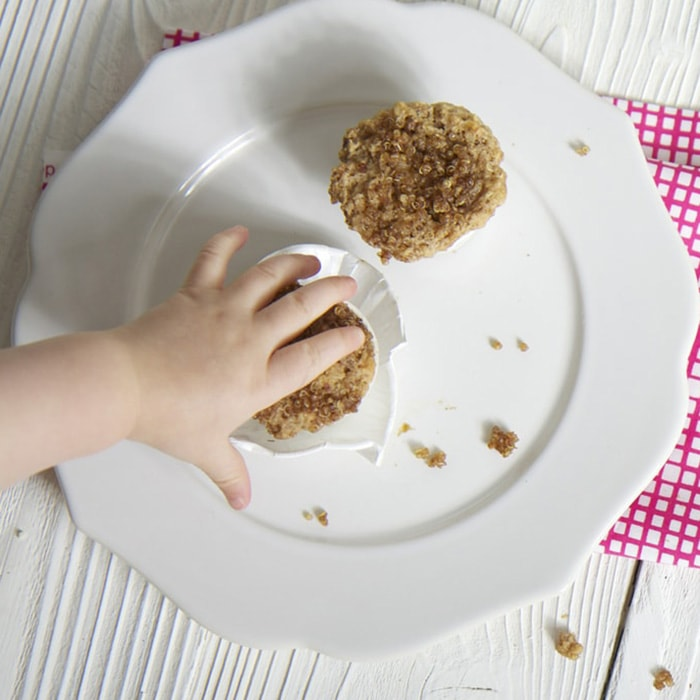 Mini quinoa muffins for toddler