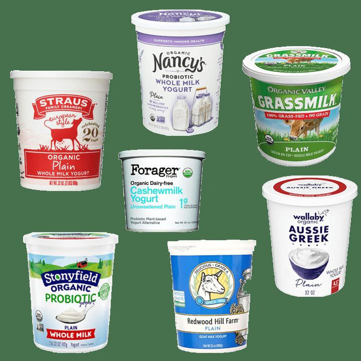 Best yogurt for babies - the best organic plain whole milk and plant based yogurts.