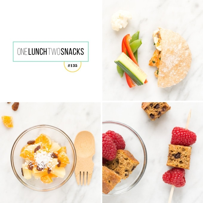 Grid of meal images on marble counter top