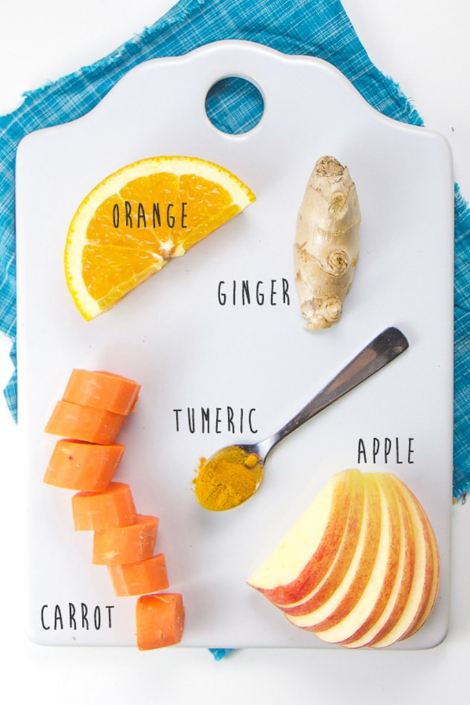 Spread of fresh immune boosting ingredients.