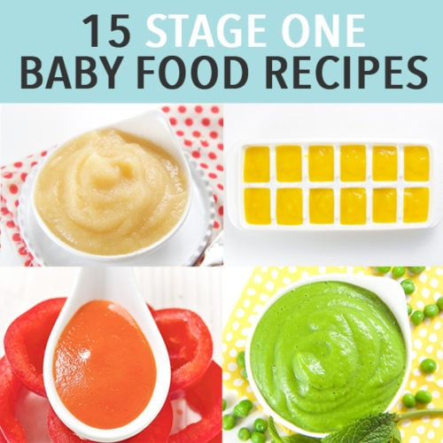 15 Stage One Baby Food Purees 4 6 Months Baby Foode