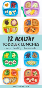 Pinterest image for healthy toddler lunch ideas