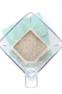 blender full of pureed quinoa for baby.