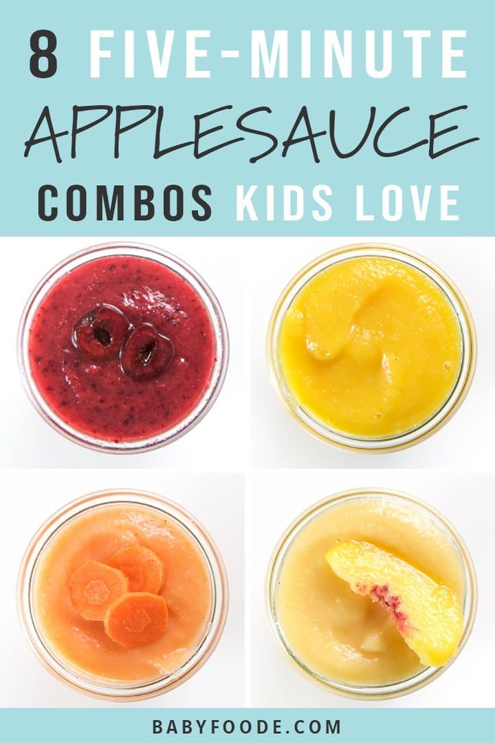 Applesauce Combos for Toddlers + Kids