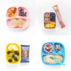 grid of healthy toddler meals