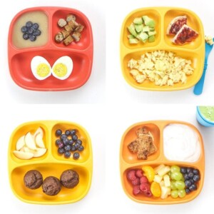 grid of healthy toddler breakfast ideas.