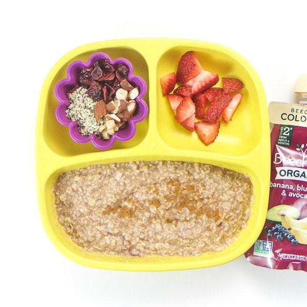 healthy toddler oatmeal for breakfast