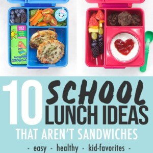 Pinterest image for 10 school lunch ideas.