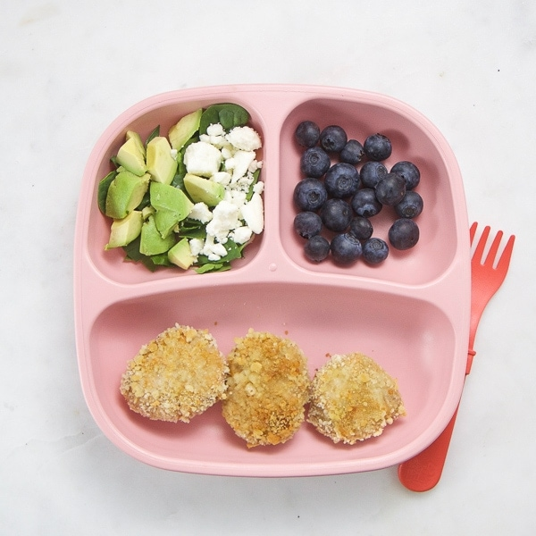 toddler lunch food idea - plate with healthy food on it