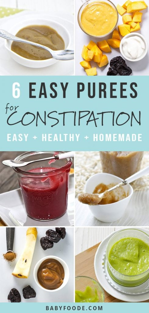 6 Baby Food Purees To Help Relieve Baby S Constipation Baby Foode