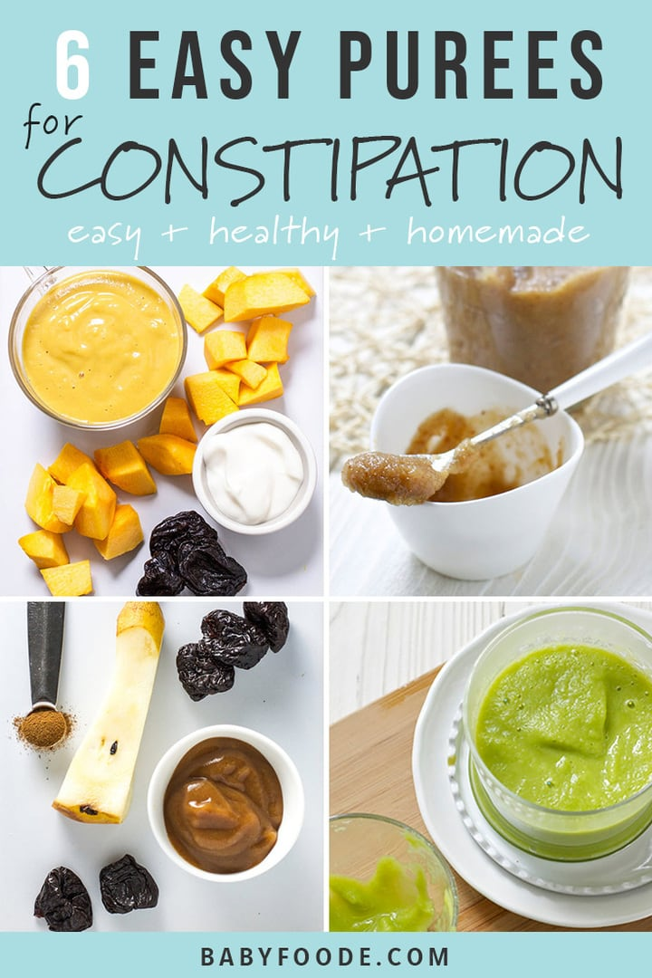 6 Baby Food Purees to Help Relieve Baby's Constipation