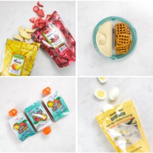 grid of snacks for toddlers and kids.