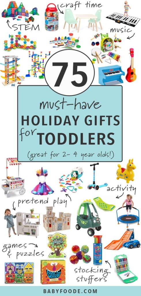 75 must have gifts for toddler with spread of toys