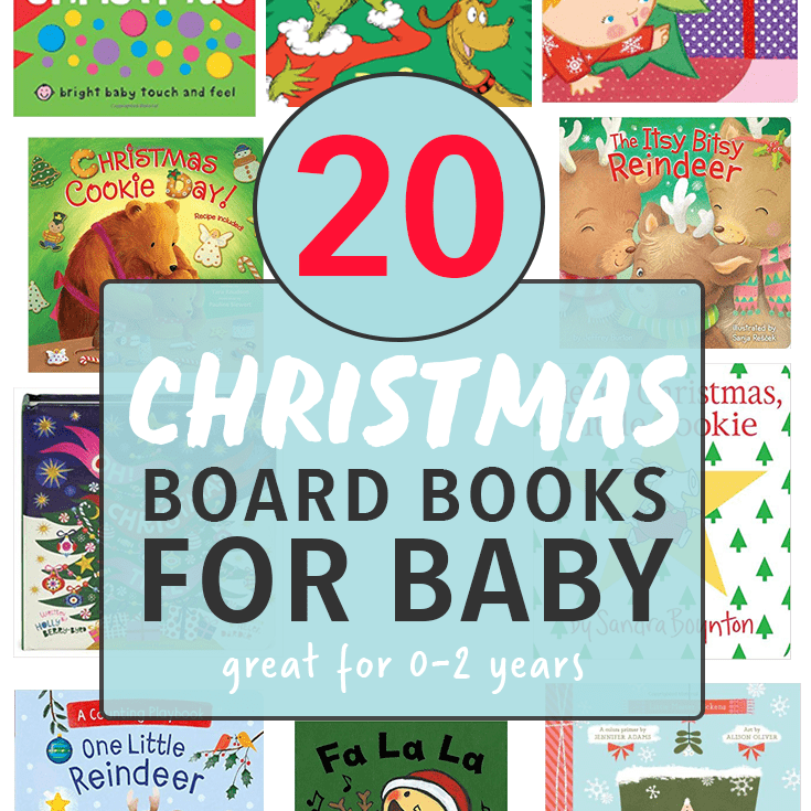 20 Christmas board books for baby.
