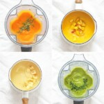 A grid of super starter baby food recipes.