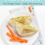 Pinterest image for avocado tuna salad - a quick and easy recipe for baby led weaning.