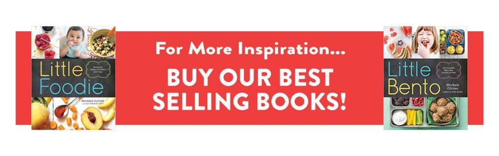 foto di due libri - Little Foodies e Little Bento