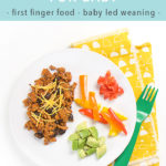 Pinterest image for baby led weaning recipe for taco tuesday.