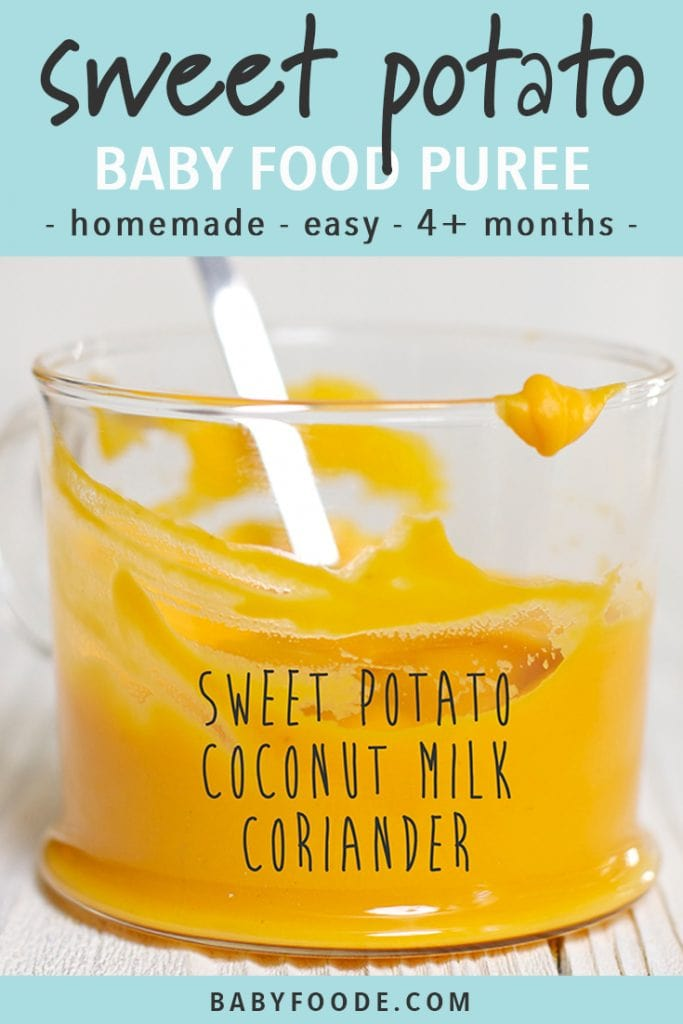 Sweet Potato + Coconut Milk Baby Food Puree (4+ months) - Baby Foode
