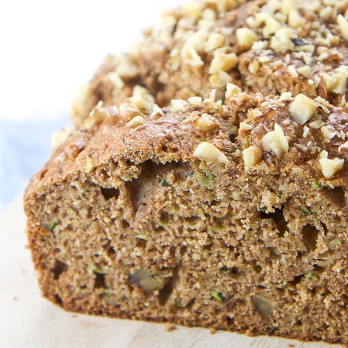Close up of healthy zucchini bread.