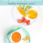 Pinterest image for homemade veggie hummus recipe.