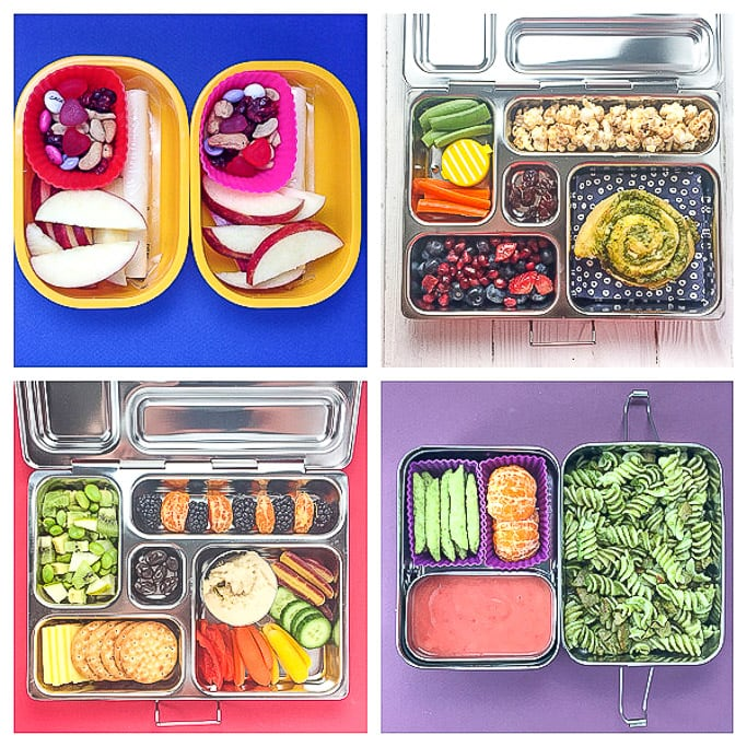 4 school lunch ideas for preschoolers and kindergarteners.