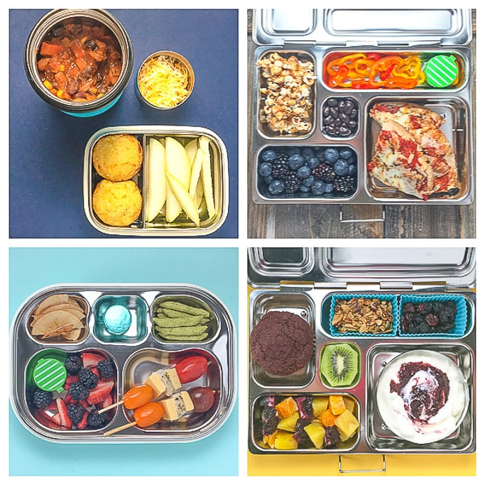 4 healthy school lunch ideas for preschoolers and kindergarteners.