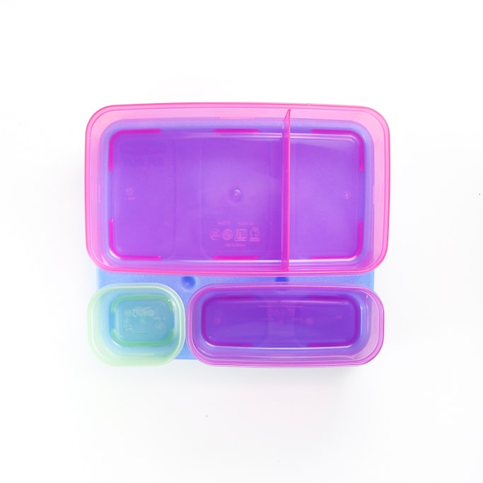 Empty Rubbermaid bento box.