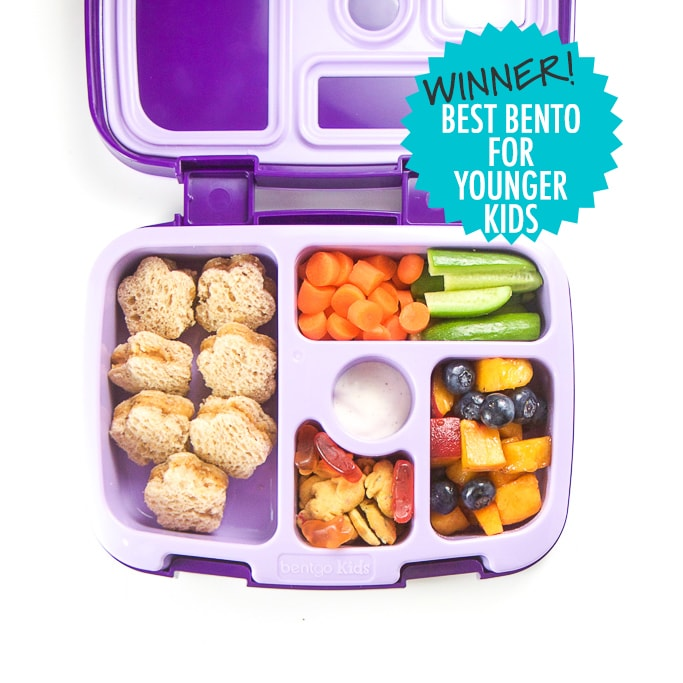 Winner of the Best Bento Box for Younger Kids - Bentgo bento box filled with a school lunch.