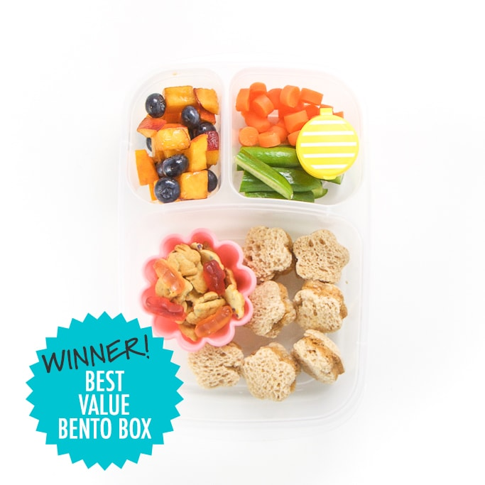 Winner best Value Bento boxes for Kids - filled with school lunch.