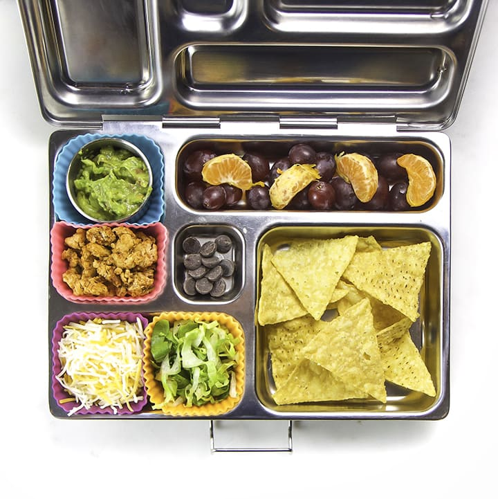 A healthy and homemade school lunch for kids - featured in a school lunch box.