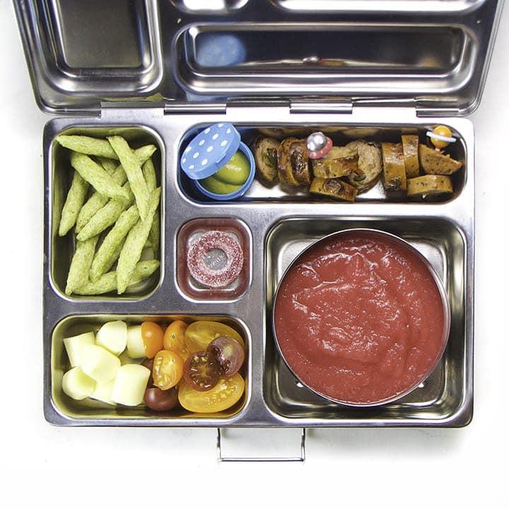 veggie hidden foods in this healthy school lunch box.