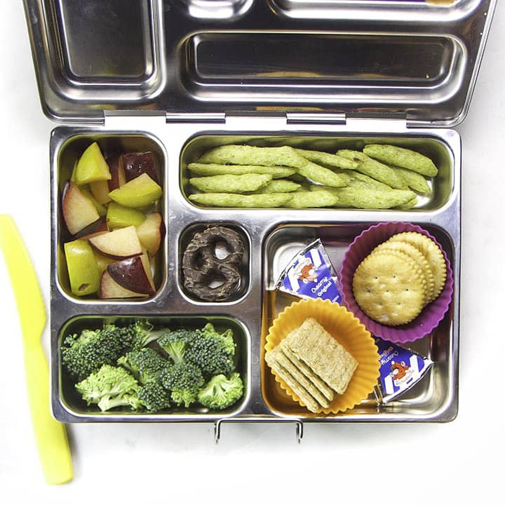 A healthy lunch box idea for kids.