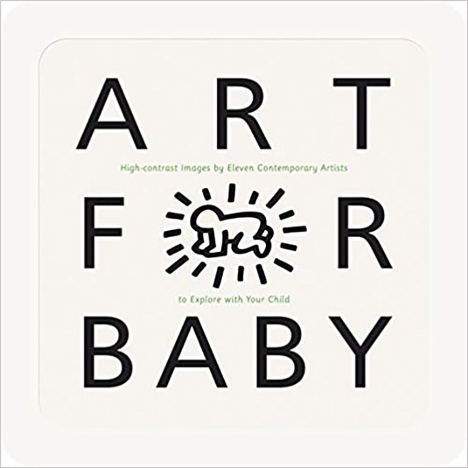 best art book for baby - art for baby white book with black words.