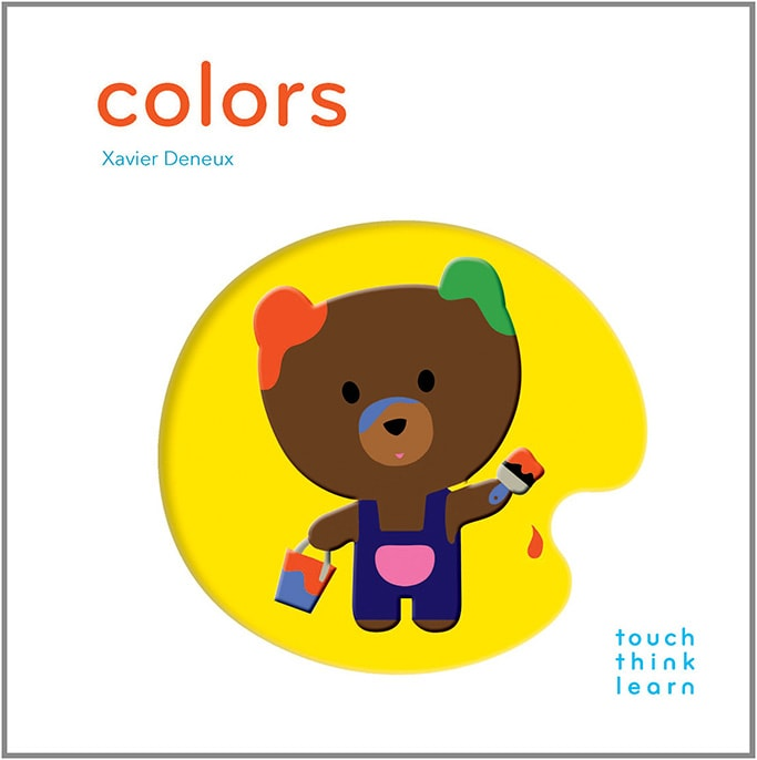 best art book for toddler- colors book with a bear on it.