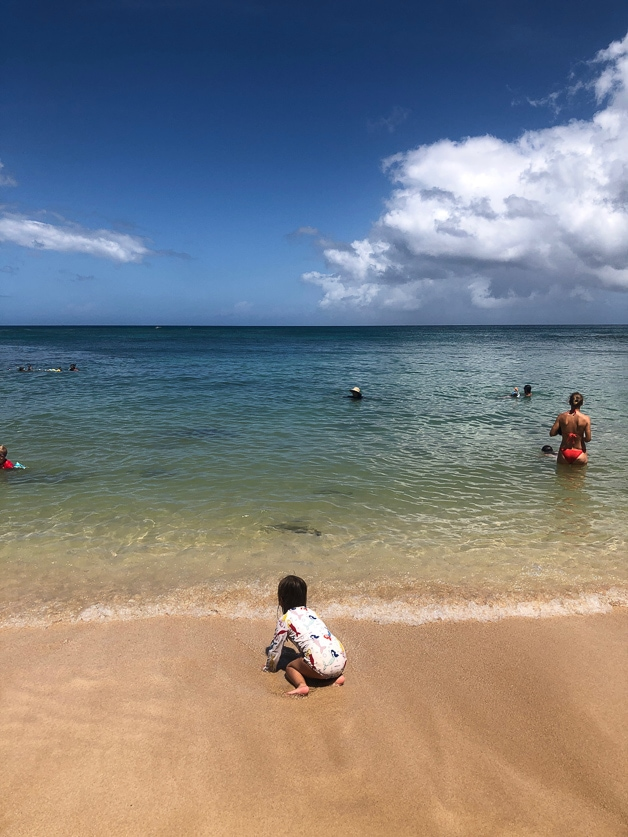 Girl by the beach.