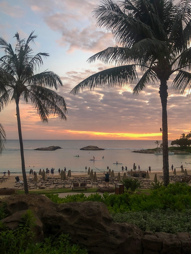 sunset at Disney Aulani - best things to do