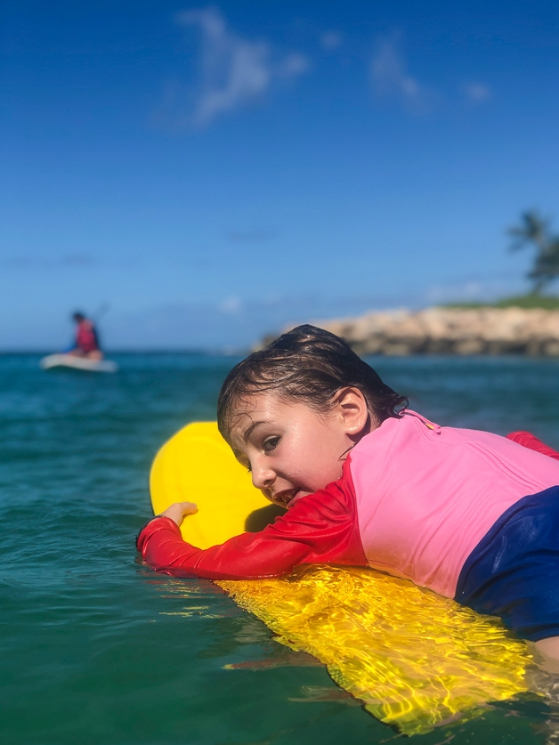 girl on boogie board.