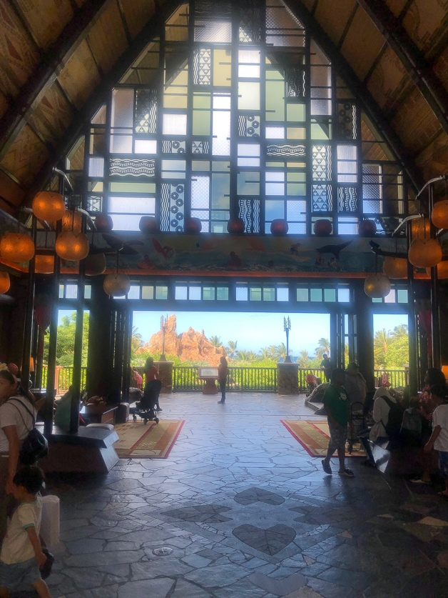The front archway at Disney Aulani.