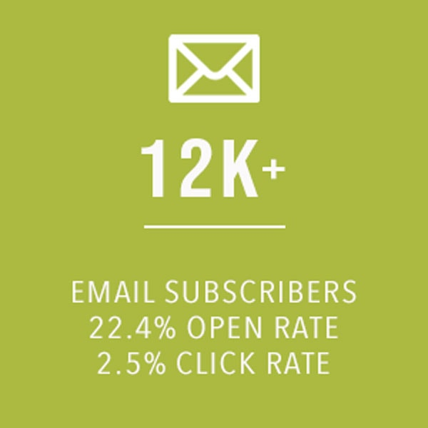 email subscribers to my blog with graphics.