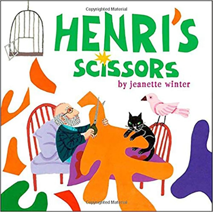 Henti's Scissors - best art book for toddlers