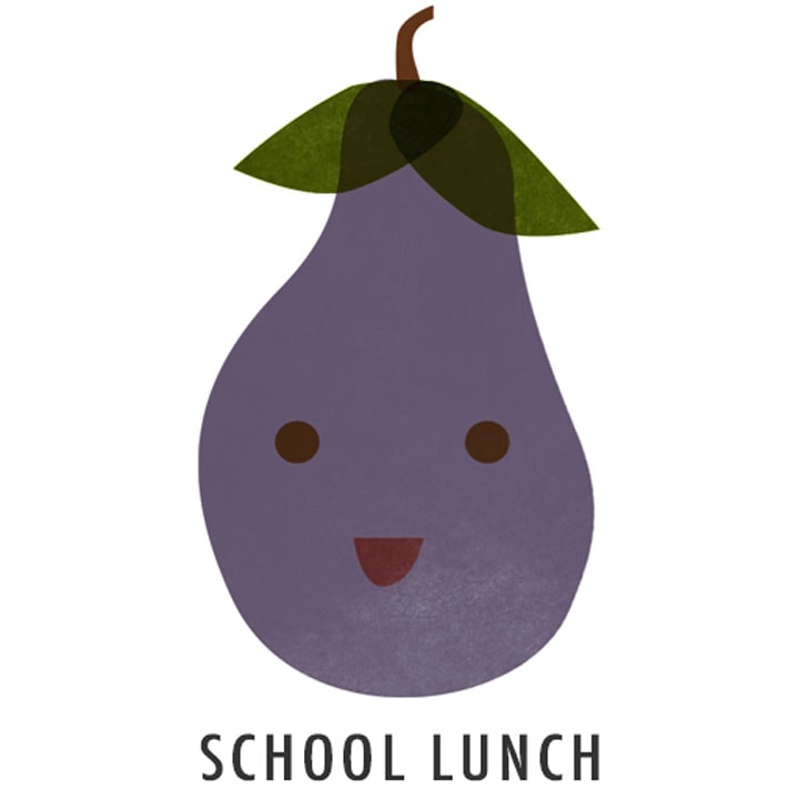 EGGPLANT DRAWING- SCHOOL LUNCH