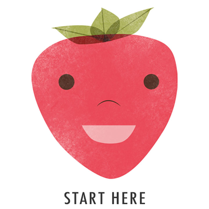 illustrated apple - start here