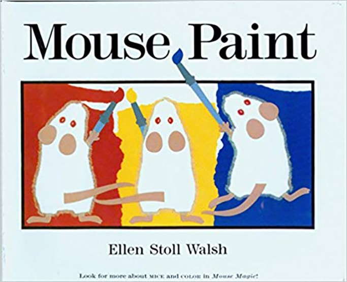 mouse paint book for best art books for baby and toddler.