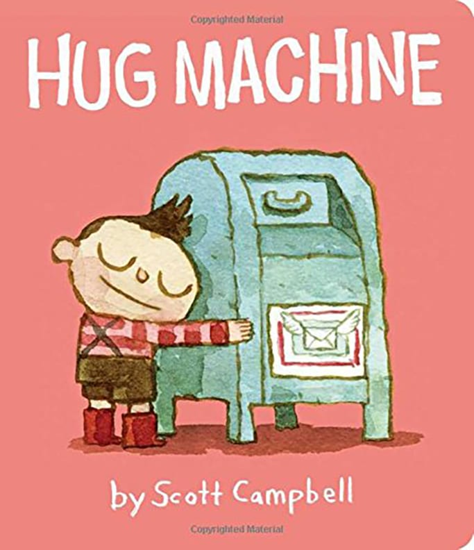 baby book about kindness - hug machine.