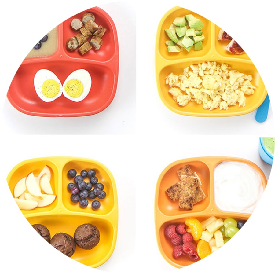 grid of four toddler breakfast ideas.