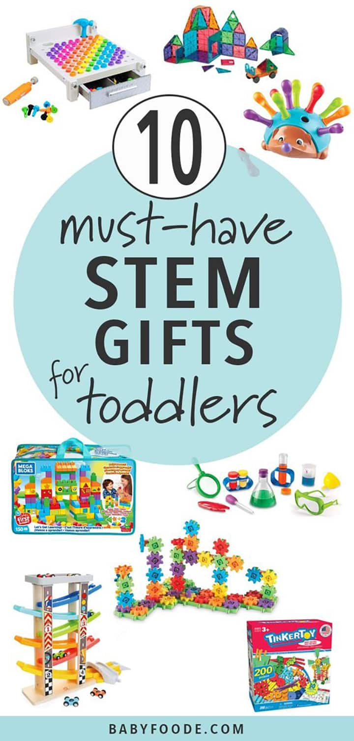10 must-have stem gifts for Christmas or holidays - toddlers.