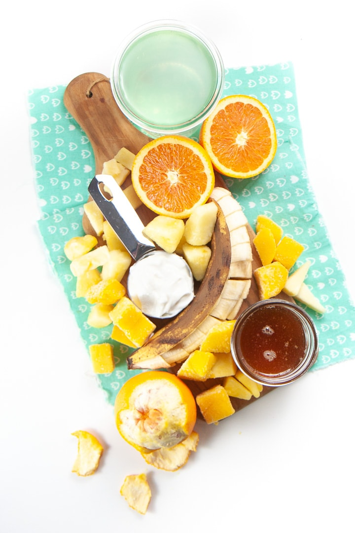 cold busting smoothie ingredients.