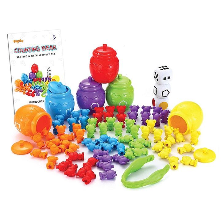 Fun toddler gift for christmas - bear sorting.