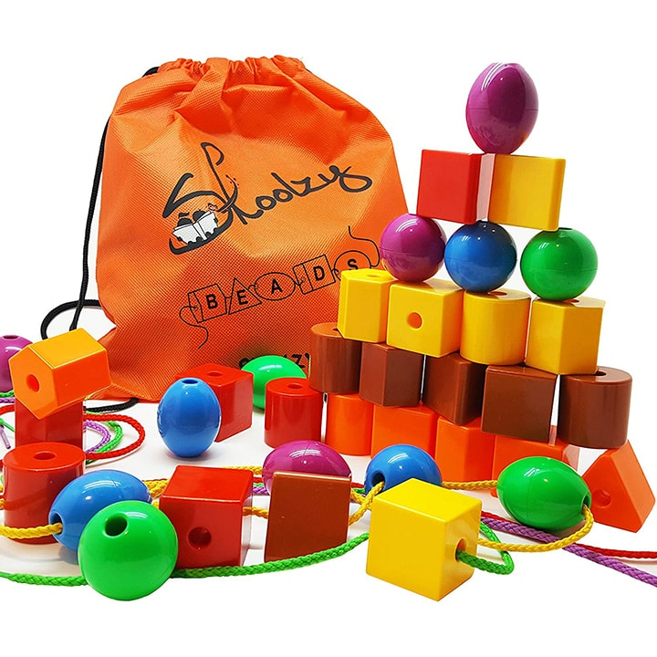 Jumbo lacing beads for toddler
